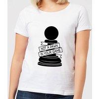 Pawn Chess Piece Women's T-Shirt - White - S - White