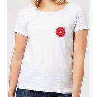 Red Checker Pocket Print Women's T-Shirt - White - S - White