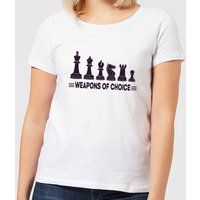 Weapons Of Choice Women's T-Shirt - White - XXL - White