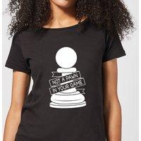 Pawn Chess Piece Women's T-Shirt - Black - M - Black