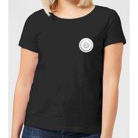 White Checker Pocket Print Women's T-Shirt - Black - M - Black