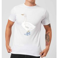 A Goose In Wellies Men's T-Shirt - White - M - White