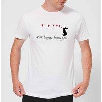 Some Bunny Loves You Men's T-Shirt - White - 3XL - White