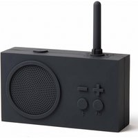 Lexon TYKHO 3 FM Radio and Bluetooth Speaker - Dark Grey