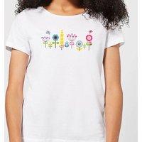 Childish Flowers 1 Women's T-Shirt - White - XL - White