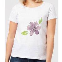 Purple Flower 2 Women's T-Shirt - White - XL - White