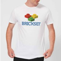 Brickset Logo Men's T-Shirt - White - XXL - White