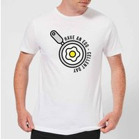 Cooking Have An Egg - Cellent Day Men's T-Shirt - 5XL - White