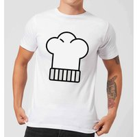 Cooking Chefs Hat Mens T-Shirt - L - White