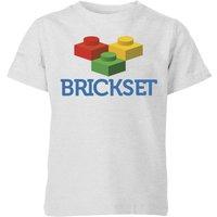 Brickset Logo Kids' T-Shirt - Grey - 7-8 Years - Grey