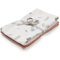 Cam Cam Muslin Cloth - Fawn, Berry and Cream (Pack of 3)