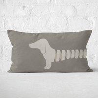 Long Sausage Dog Front Legs Rectangular Cushion - 30x50cm - Soft Touch