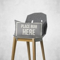 Place Bum Here Rectangular Cushion - 30x50cm - Soft Touch