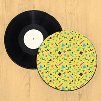 90's Colourful Shape Pattern Record Player Slip Mat