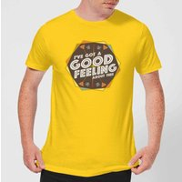 Crystal Maze I've Got A Good Feeling About This- Aztec Men's T-Shirt - Yellow - S - Yellow