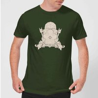 Crystal Maze Fast And Safe Crest Men's T-Shirt - Forest Green - M - Forest Green