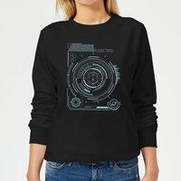 Crystal Maze Futuristic Crystal Women's Sweatshirt - Black - XXL - Black