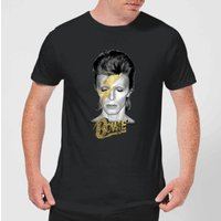 David Bowie Aladdin Sane On Black Men's T-Shirt - Black - 4XL