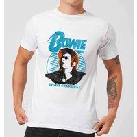 David Bowie Ziggy Stardust Orange Hair Men's T-Shirt - White - XS