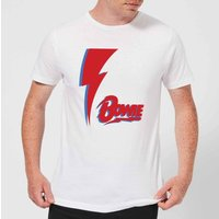 David Bowie Bolt Men's T-Shirt - White - 4XL
