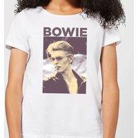 David Bowie Smoke Women's T-Shirt - White - S - White