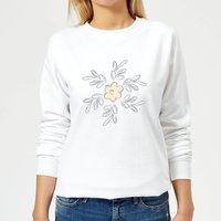 Flower 15 Women's Sweatshirt - White - XXL - White