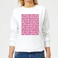 Pink Leafy Blobs Women's Sweatshirt - White - S - White