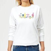 Childish Flowers 1 Women's Sweatshirt - White - XS - White