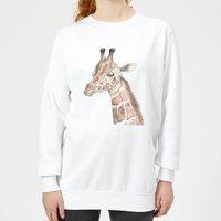 Watercolour Giraffe Women's Sweatshirt - White - XXL - White - Giraffe Gifts