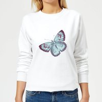 Butterfly 6 Women's Sweatshirt - White - M - White