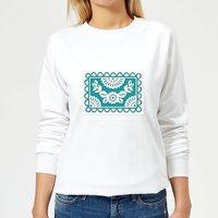 Cut Heart Pattern Flower Women's Sweatshirt - White - XL - White