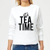It's Tea Time Women's Sweatshirt - White - M - White