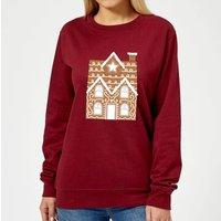 Gingerbread House Two Women's Sweatshirt - Burgundy - XL - Burgundy