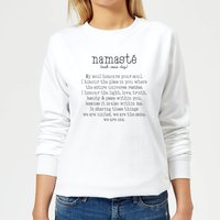 Namaste Women's Sweatshirt - White - XXL - White