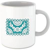 Cut Heart Pattern Flower Mug