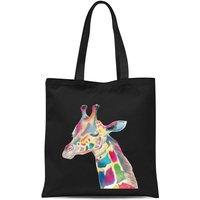 Multicolour Watercolour Giraffe Tote Bag - Black - Giraffe Gifts