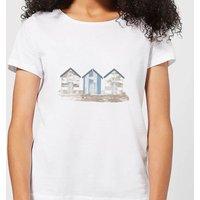 Candlelight Wooden Beach Hut Women's T-Shirt - White - 3XL - White