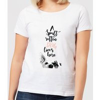 Candlelight A Spoilt Rotten Dog Lives Here Jack Russell Women's T-Shirt - White - XXL - White