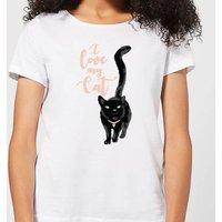 Candlelight I Love My Cat Black Cat Women's T-Shirt - White - 3XL - White