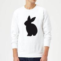 Candlelight Bunny Rabbit Silhouette Sweatshirt - White - L - White