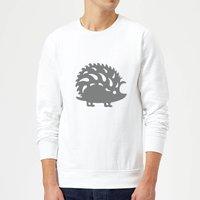 Candlelight Folk Silhouette Hedge Hog Cutout Sweatshirt - White - S - White
