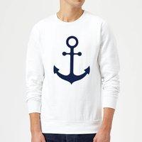 Candlelight Anchor Sweatshirt - White - M - White