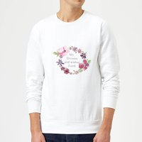 Candlelight My Dreams And Wishes Fund Floral Ring Sweatshirt - White - XL - White