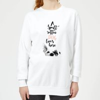Candlelight A Spoilt Rotten Dog Lives Here Jack Russell Women's Sweatshirt - White - XL - White