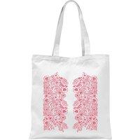 Elegant Floral Pattern Tote Bag - White - Elegant Gifts