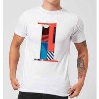 1 Mens T-Shirt - White - S - White