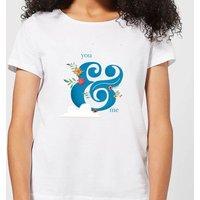 You & Me Women's T-Shirt - White - M - White