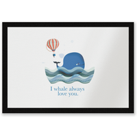 I Whale Always Love You Entrance Mat
