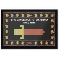 It's Dangerous To Go Alone Entrance Mat