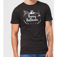 Happy Halloween Pumpkin Men's T-Shirt - Black - S - Black
